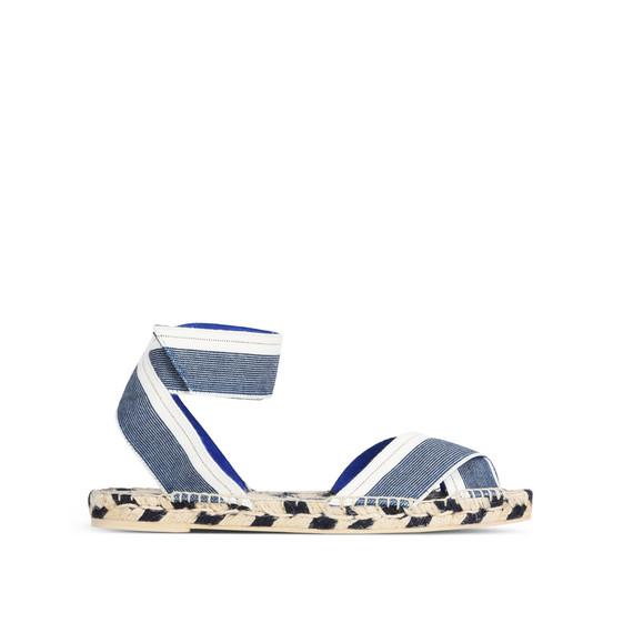 Stella McCartney Denim raffia espadrille sandals zUn5Cw9P