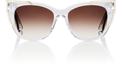 THIERRY LASRY Butterscotchy Cat-Eye Sunglasses, Clear