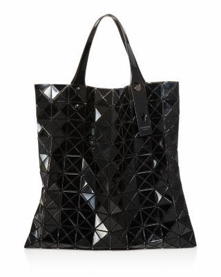 Prism Lightweight Vinyl Tote Bag, Black