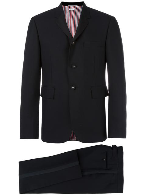 Slim-Fit Faille-Trimmed Wool Mohair And Silk-Blend Tuxedo in Black