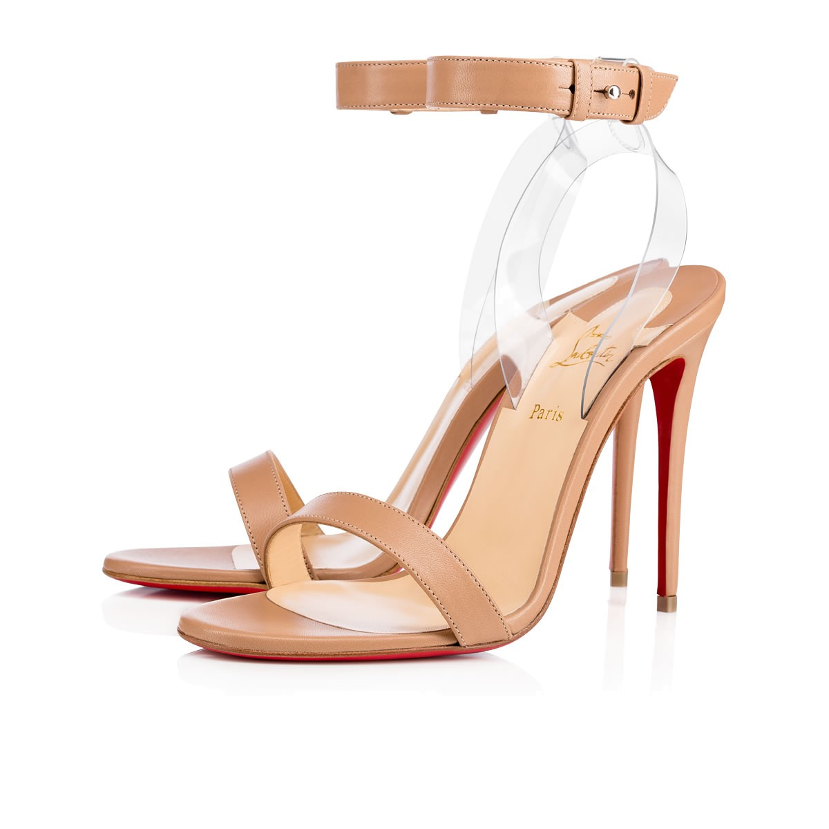 Christian Louboutin PVC T-Strap Sandals Cheap Sale In China Cheapest Price Cheap Price 4kWx93wk