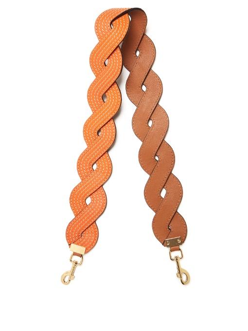 989d01caf114 Loewe Twisted Wave Leather Bag Strap In Orange