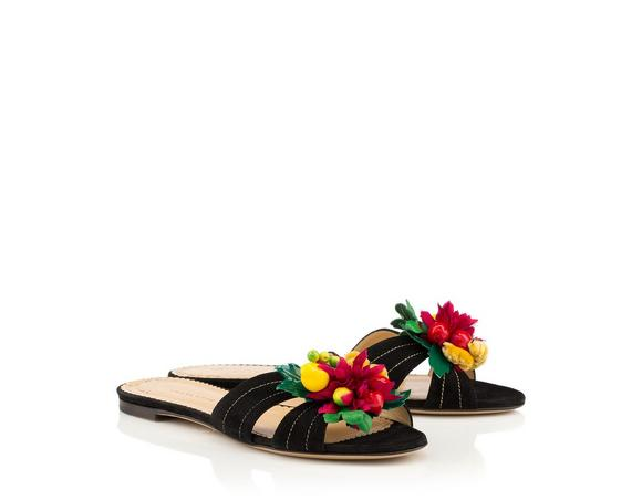 Charlotte Olympia Tropical Slide Sandals Amazing Price 9HARkhYyd3