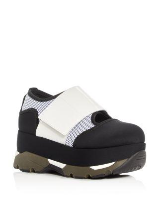 Platform Sneakers in Black