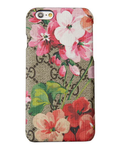 gucci 7 plus case. gucci blooms-print gg supreme canvas iphone 7 plus case in multi gucci n