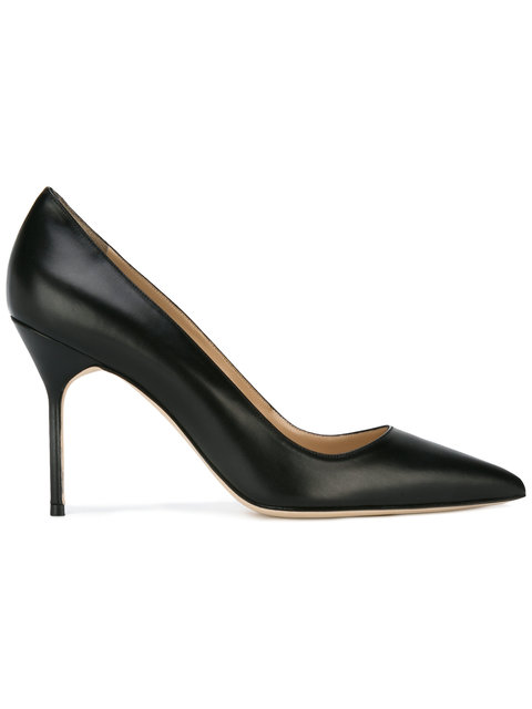 Bb Pumps - Black Leather Size 8.5