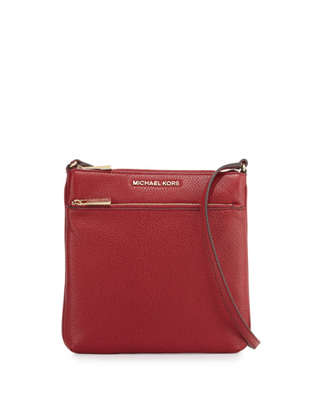 Michael Michael Kors Riley Small Leather Crossbody Bag In Cherry ... 99e1dd375868f