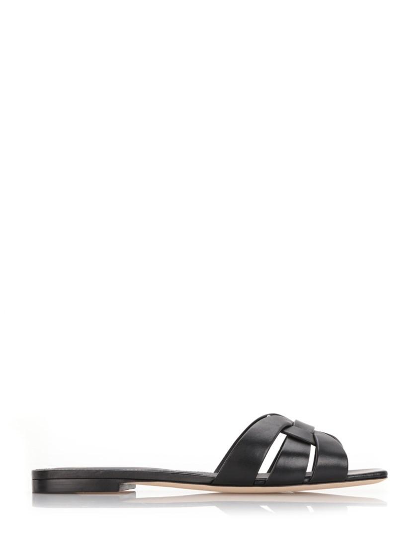 Nu Pieds 05 Leather Sandals, Black