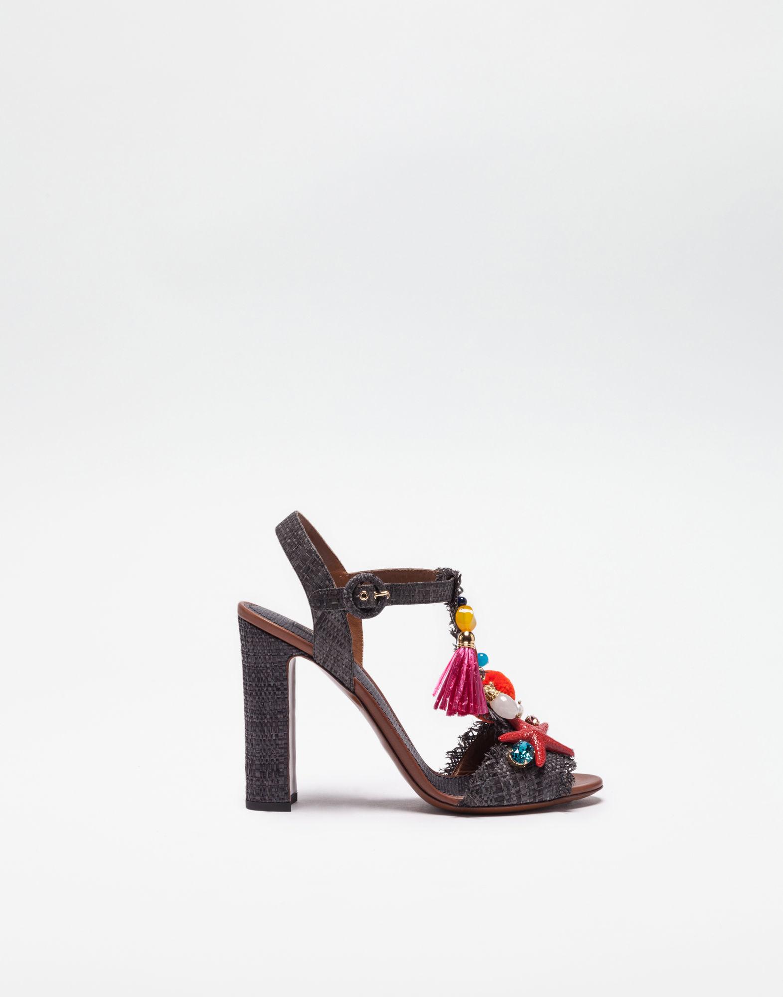 Printed Crepe Sandals With Sculpted HeelDolce & Gabbana vRN7TgFE