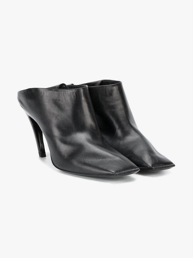 Balenciaga 2017 Quadro Square-Toe Mules Discount Looking For 7b7ejpwl