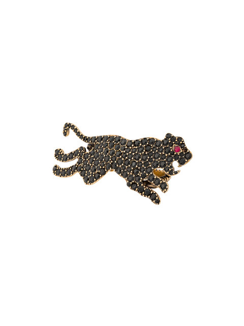 Multi-Finger Ring With Tiger, Multi, Black