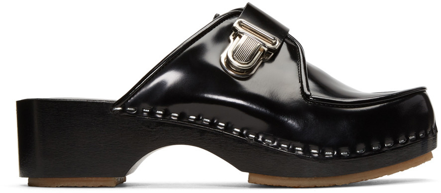 ADIEU Adieu Paris Buckled Mules - Black