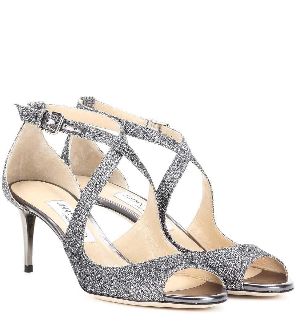 72e9341bff7 JIMMY CHOO Emily 65 Glitter Sandals