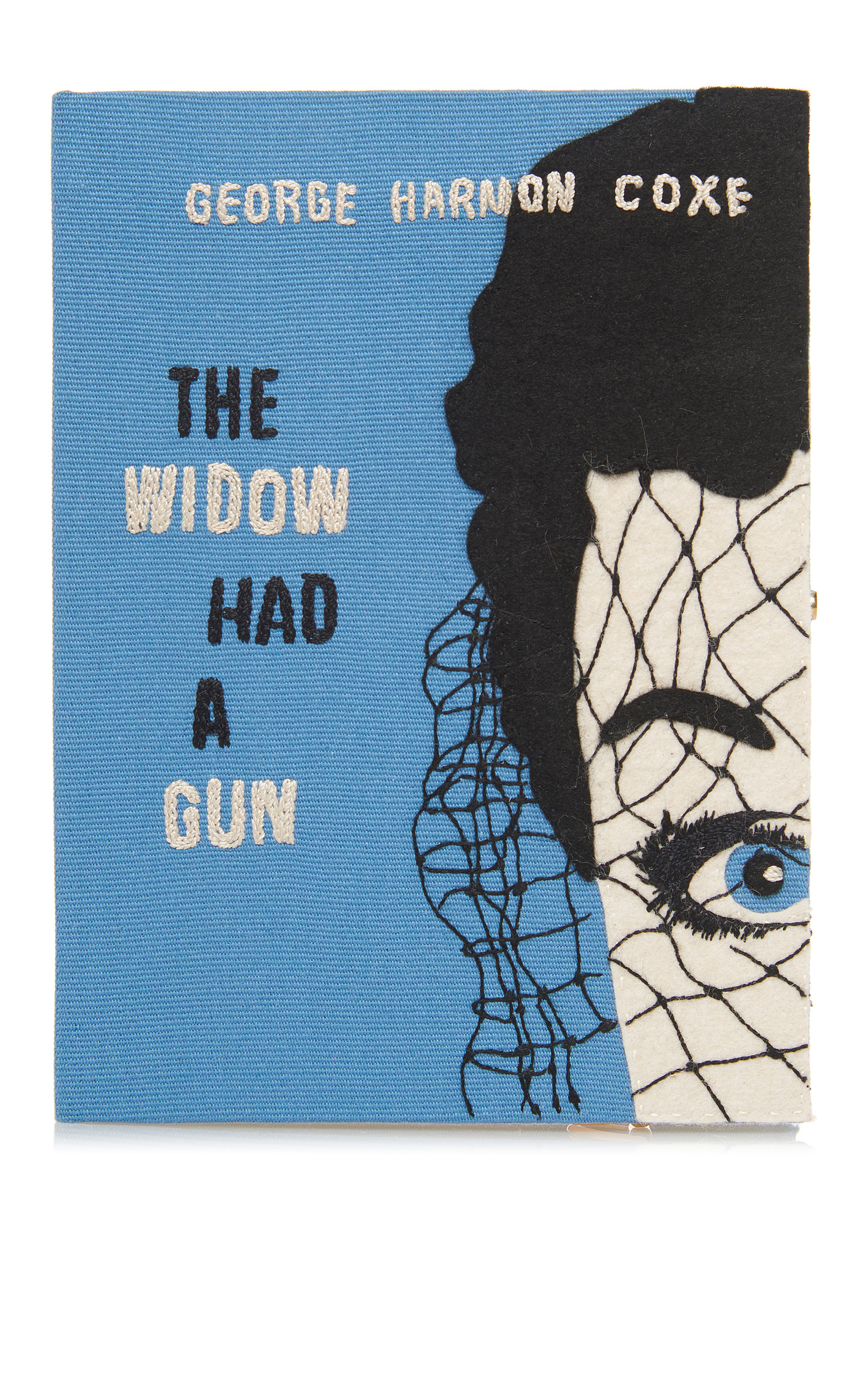 The Widow Had A Gun Book Clutch Bag, Blue