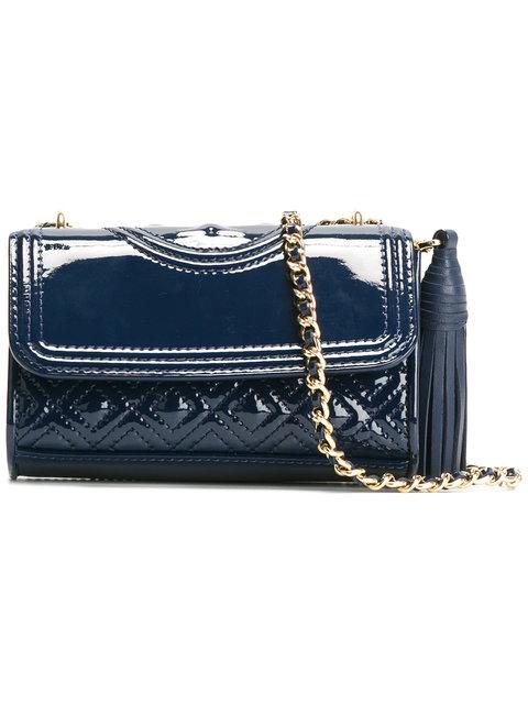 72810385b0d9 TORY BURCH Fleming Patent Royal Navy Micro Shoulder Bag