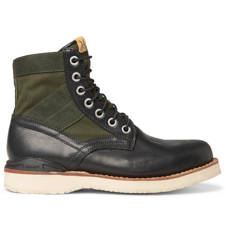 Foley Folk Leather High-top Sneakers - NeutralVisvim XCTQLr