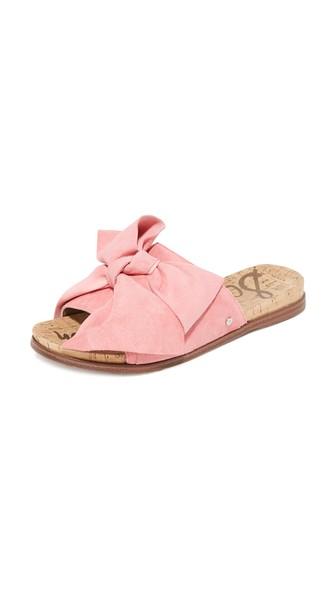 Sam Edelman Suede Bow Slide Sandals