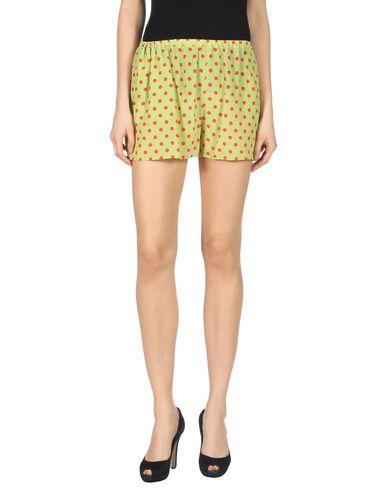 Woman Polka-Dot Silk Crepe De Chine Shorts Lime Green