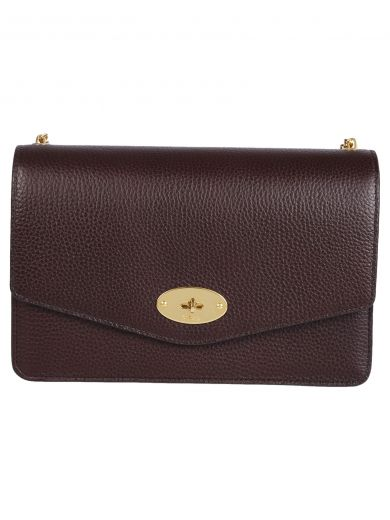 Darley Large Grained Leather Cross-Body Bag in Oxblood