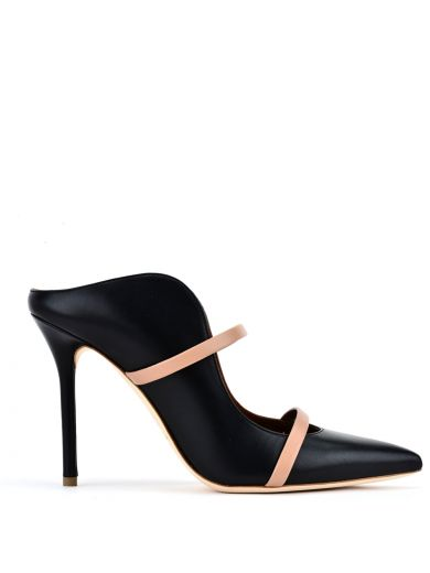 Maureen 100 Leather Mules in Black