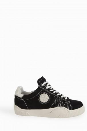Wave Rough Low-Top Suede Trainers, Black