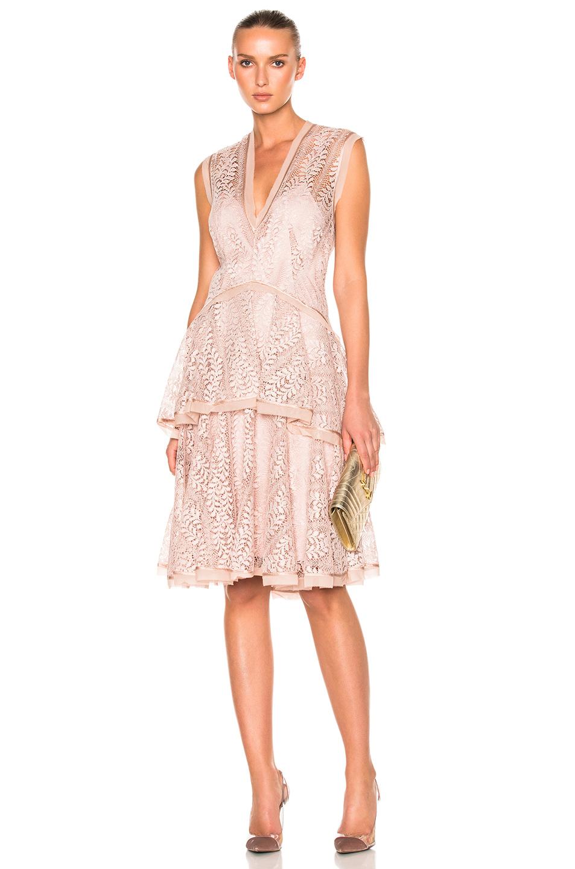 LOVER Lover Vine Tier Midi Dress In Pink