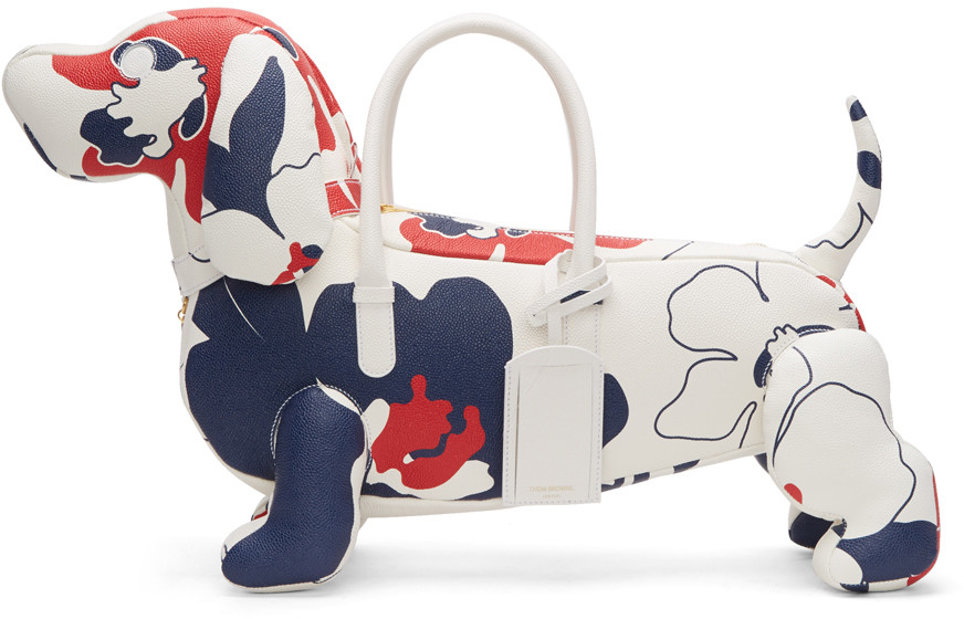THOM BROWNE Tricolor Floral Outline Hector Tote