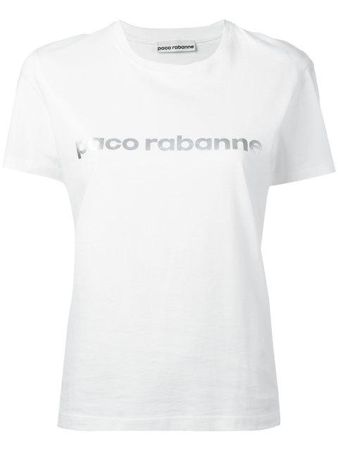 Logo Printed Cotton Jersey T-Shirt in White