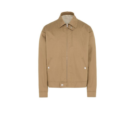 STELLA MCCARTNEY SWALLOW APPLIQUÉ COTTON HARRINGTON JACKET, BROWN