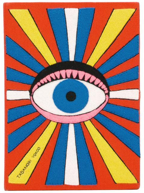 Eye Book Clutch, Yellow & Orange