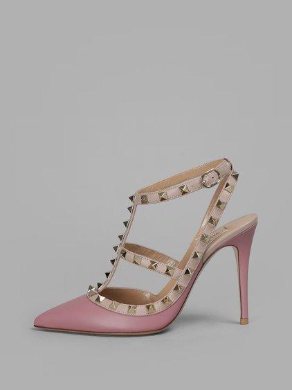 Valentino Garavani The Rockstud Leather Sandals - Antique rose Valentino M3qoXwcS8