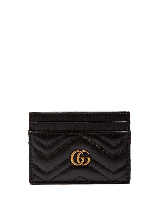 GUCCI Gg Marmont Quilted Leather Cardholder in Eero