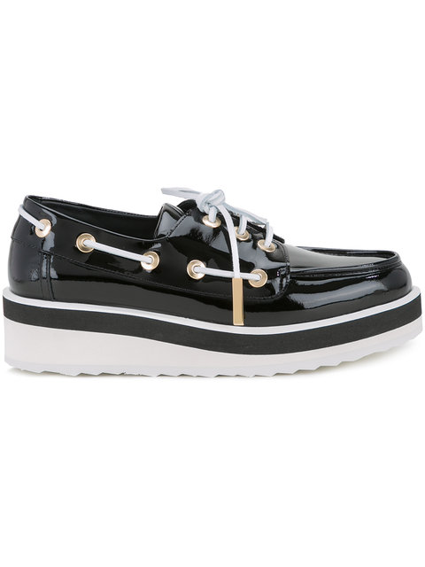 Marina Platform Loafers in Black