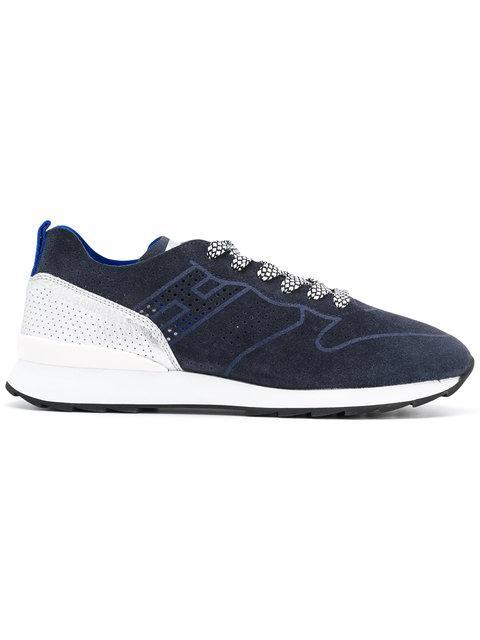 HOGAN REBEL Women'S Shoes Suede Trainers Sneakers R261 in Blue