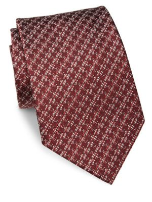 GIORGIO ARMANI Patterned Silk Tie in Na
