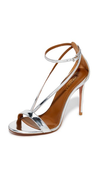 AQUAZZURA Casanova 105 Sandals in Silver