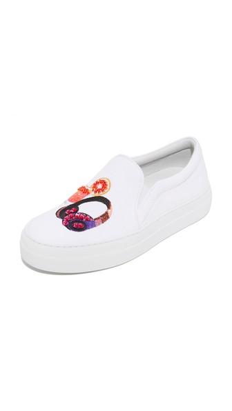 JOSHUA SANDERS Ibizia Slip On Sneakers in White