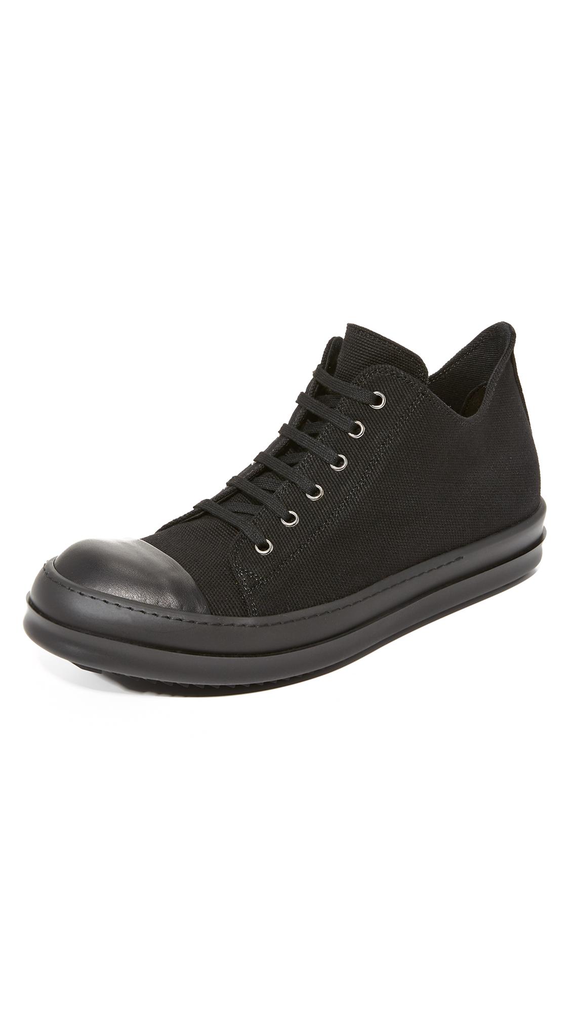 RICK OWENS DRKSHDW Lace-Up Sneakers in Black