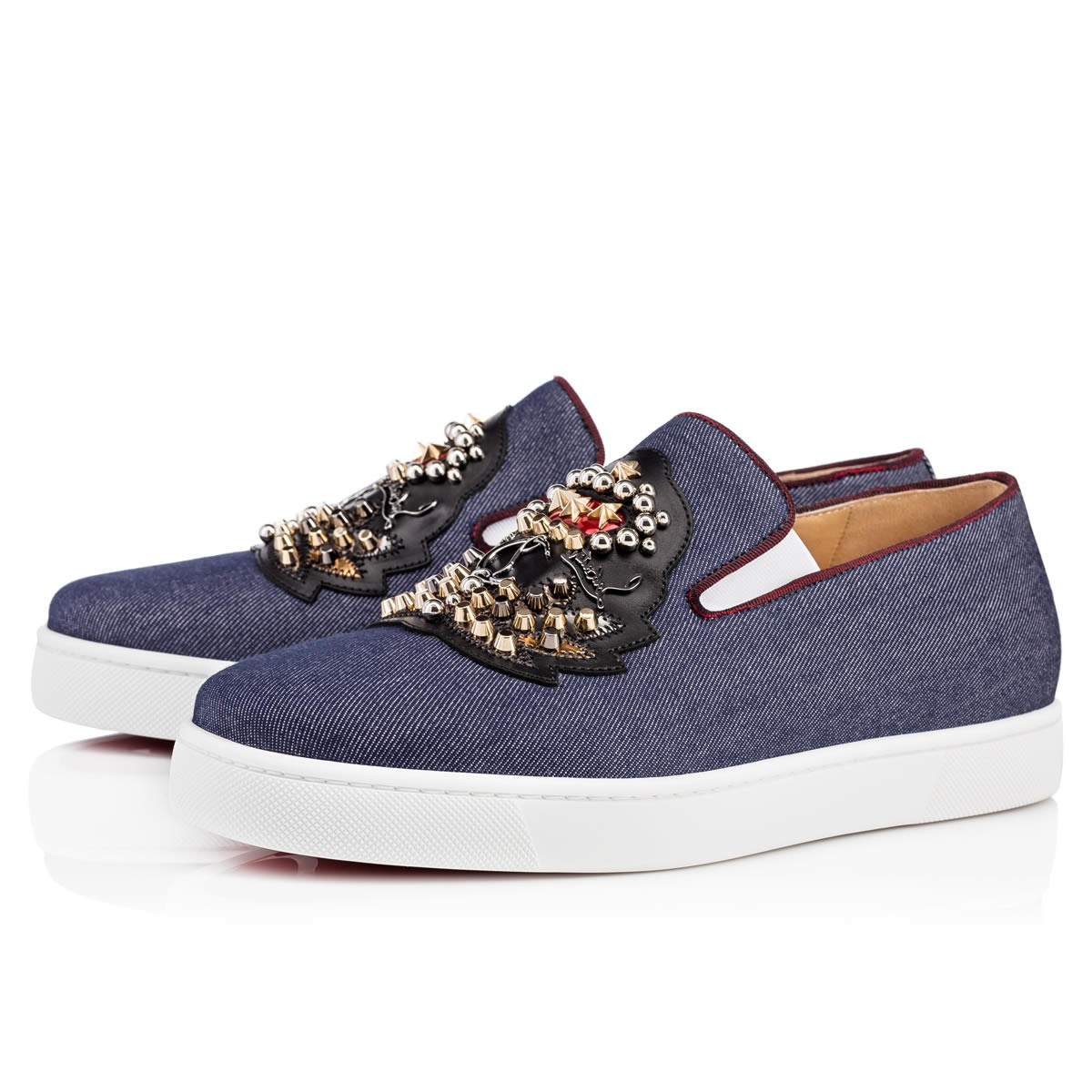 CHRISTIAN LOUBOUTIN Ecuboat Flat Blue Denim - Men Shoes -