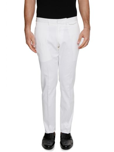 Z ZEGNA Formal Trousers in White Sld|Bianco