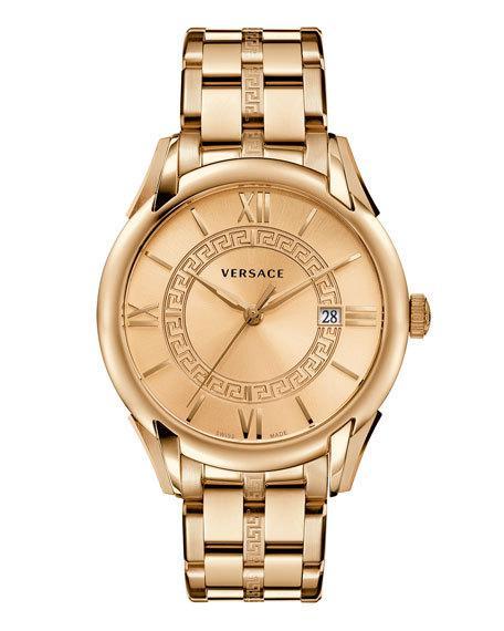 VERSACE Apollo Bracelet Watch, Rose Golden in White