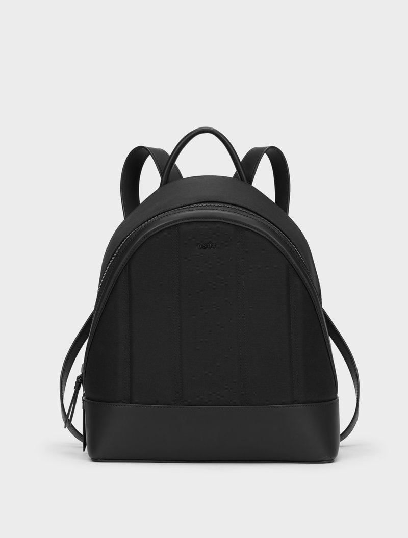 DKNY Leather Trim Backpack in Black