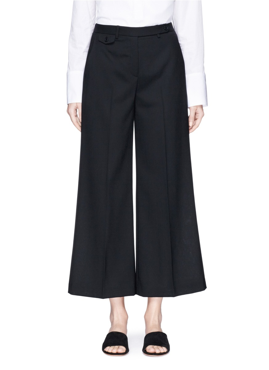 THEORY 'Nadeema' Virgin Wool Wide Leg Pants