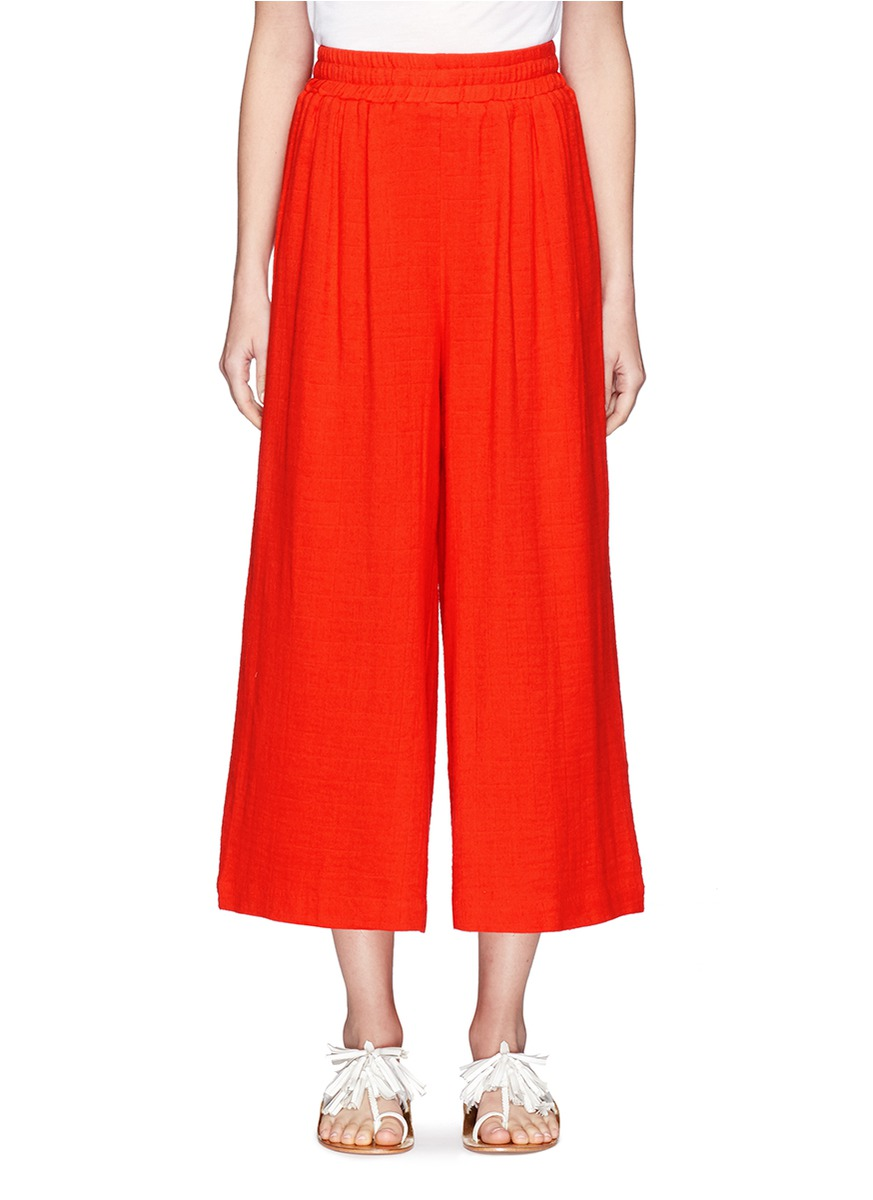 MARA HOFFMAN Organic Cotton Pleated Beach Pants