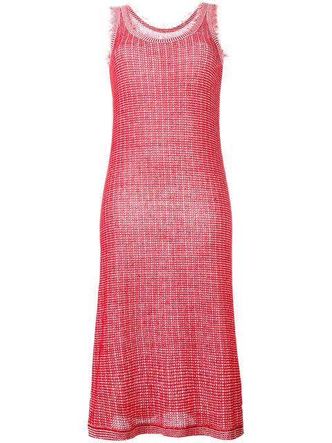 MAISON MARGIELA Frayed Edge Knitted Dress