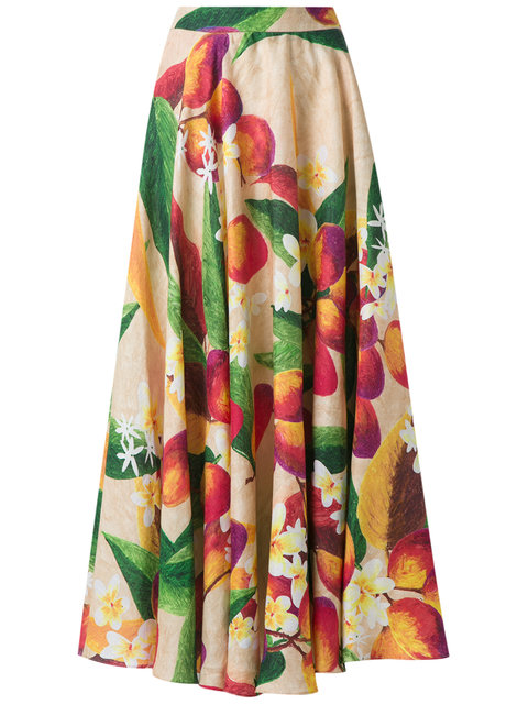 ISOLDA Mango And Floral Skirt