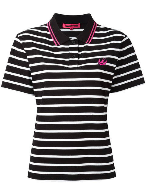 MCQ BY ALEXANDER MCQUEEN Swallow Embroidered Polo Shirt