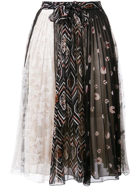 GIAMBATTISTA VALLI Patch Print Pleated Skirt