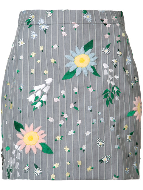 THOM BROWNE - Floral Mini Skirt