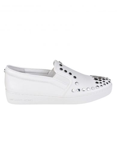 MICHAEL MICHAEL KORS Studded Slip-On Sneakers in Bianco